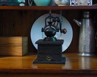 Mechanical Coffee Grinder - Mechanical Coffee Mill - Fresh Ground Coffee - Handmade wooden base - Burr Grinder - Foodie -CG114
