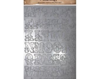 Tim Holtz - Idea-ology Collection - Cirque Industrious Alpha Sticker