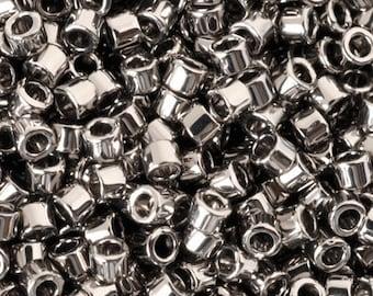 Seed Beads-11/0 Delica-21 Steel-Miyuki-7 Grams