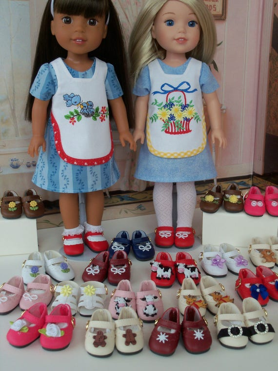 Wellie Wisher® Size 14 Inch Shoes / Custom Made to your Specs/ Doll Accessories for American Girl® Wellie Wishers® or Hearts4Hearts®
