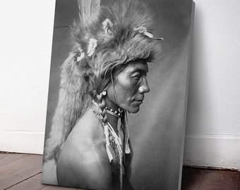 Native American Indian Canvas Print, Yellow Kidney ca. 1910, Indigenous Americans, American Indian, indigenous people, NA23C