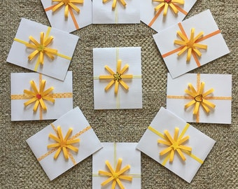 Blank Notecards Finished with a Bow