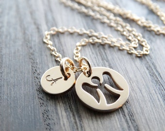 Angel necklace silver guardian angel jewelry personalized tiny guardian angel necklace guardian angel charm gold filled necklace gold necklace monogram necklace gold angel necklace aloadofball Choice Image