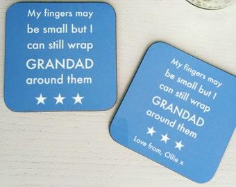 Grandad gift | Grandad coaster | Grandpa present | personalised Grandad coaster | Custom coaster | Fathers Day | Granddad present