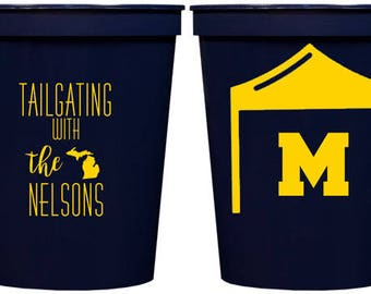 Personalized Stadium Cups For Michigan Wolverines Football Tailgate {16 oz}