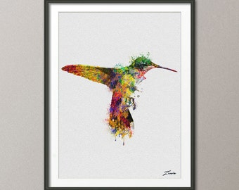 Bird watercolor poster bird print watercolor bird art wall hanging hummingbird poster watercolor decor painting birds decor A120