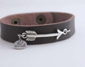 Arrow Bracelet, Leather Cuff, Follow Your Arrow, Barn Wedding, Arrow Jewelry, Southwestern Jewelry, Arrow Gift, Cuff Bracelet, New Mom Gift