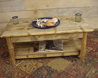"""Driftwood Coffee Table, Rustic coffee table (42"""" x 22"""" x 16-20"""" H)"""