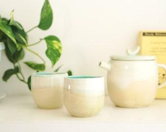 Handmade tea pot set, Foodie Gift, Gift For Her, Wedding Gift, Housewarming Gift, Ceramic Tea pot, Tea Pitcher