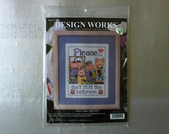 "Design Works Counted Cross Stitch ""DON'T HOG The BATH"""