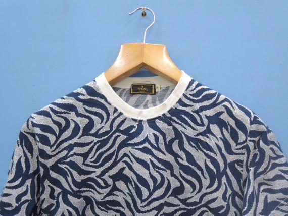Fendi Minimalist Urban Vintage Fashion Full Print M Shirt Designer T Top Logo Tee Out Size dPPtqwx4