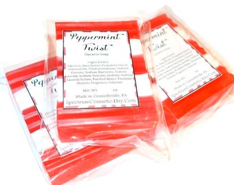 PEPPERMINT TWIST Red and White Soap