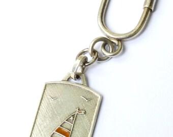 Vintage .800 Silver Keyring
