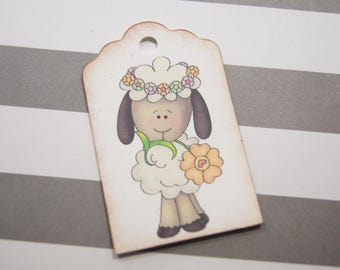 Spring Lamb Gift Tags Favor Tags - T582