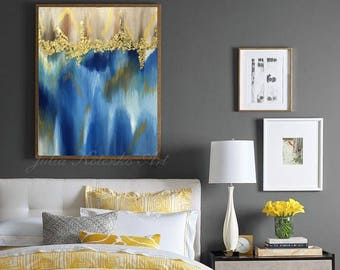 Original Abstract Painting Gold Painting Modern Art Original Painting with Wall Decor Gold leaf Abstract Painting On Canvas by Julia Kotenko