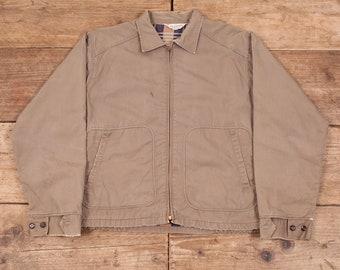 "Mens Vintage Kolesport 1950 Beige Lined Workwear Jacket Talon Medium 40"" XR 8256"