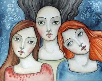 Three Faces Watercolor online class