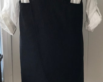 Washed Linen, Curved Cross Back, Apron, Pinafore, Smock, Layering Wardrobe Piece, Large/Extra-Large
