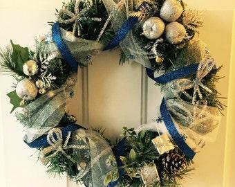 Holiday Wreath (Blue)