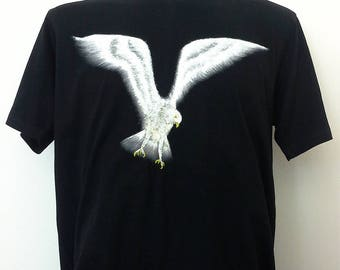 Hand painted T-shirt 'Falcon' Comfortably, Cool style