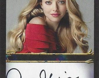 Actress Amanda Seyfried AUTOGRAPHED Custom Trading Card