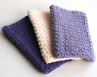 Lavage des chiffons 100 % coton pour cuisine ou salle de bain en crochet