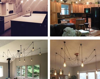 Swag chandelier etsy 9 pendant light swag chandelier mozeypictures Gallery