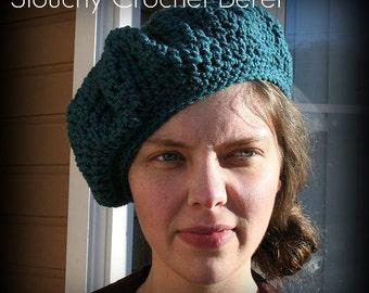 Slouchy Crochet Beret