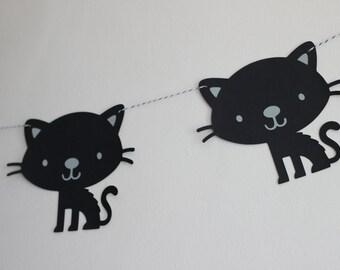 black kitty garland