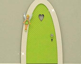 Tinker Bell Indoor Fairy Door, Skirting Board Fairy Door, Shelf Sitting Fairy Door,  Handmade by Jennifer