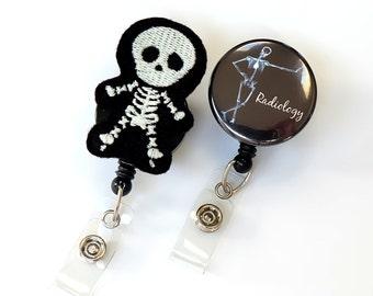 Radiology Nurse Gift Set - Felt Badge Pull - Radiologist Gift - Rad Tech Badge Holder - X Ray Badge Reel - Radiology Tech Gift - BadgeBlooms