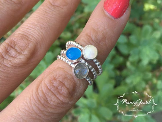 Opal, labradorite, agate ring, sterling silver ring, handmade ring, made in Italy, nichel free, stone power, precious stone, crystal healing