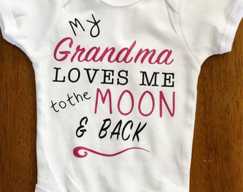 Grandma loves me to the moon and back