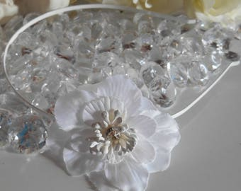 Wedding white flower headband
