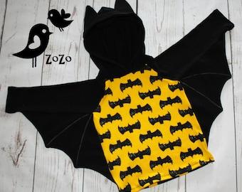 Bat Hoodie with wings - Kid Sizes