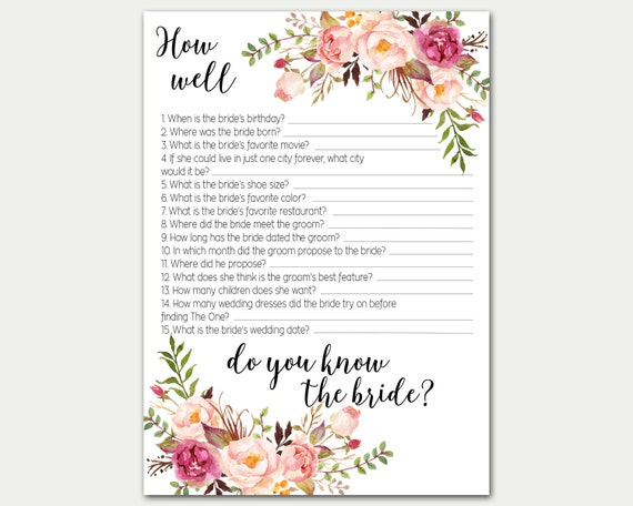 Astounding image inside how well do you know the bride free printable