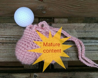 Testicle golf ball holder, bachelor party favor, bachelorette party favors, white elephant gifts, father's day gifts, golfer gift, gag gift