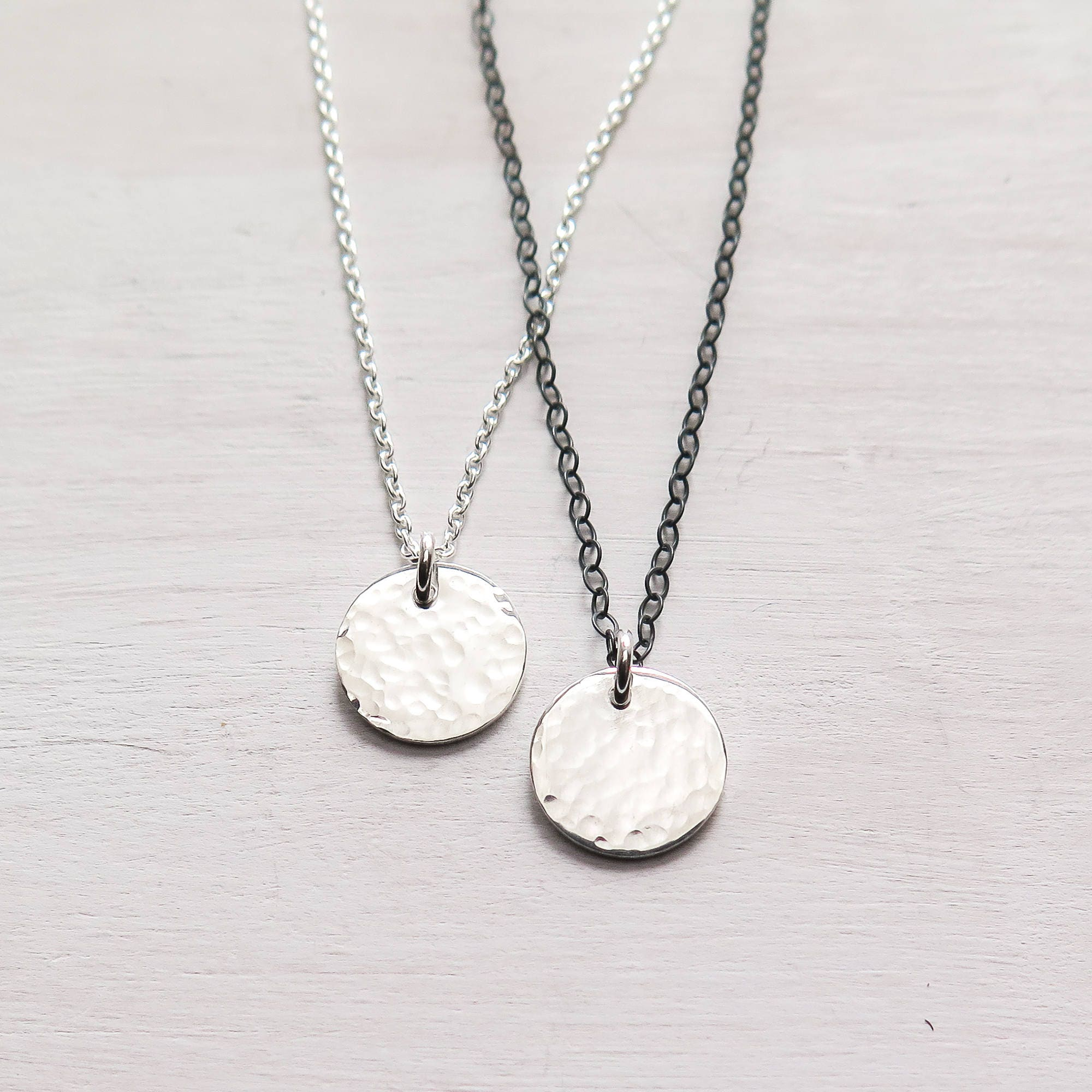 meyer shop petite layered discs silver and strand sterling tiny initials double initial e gosia two letter jewelry heart necklace
