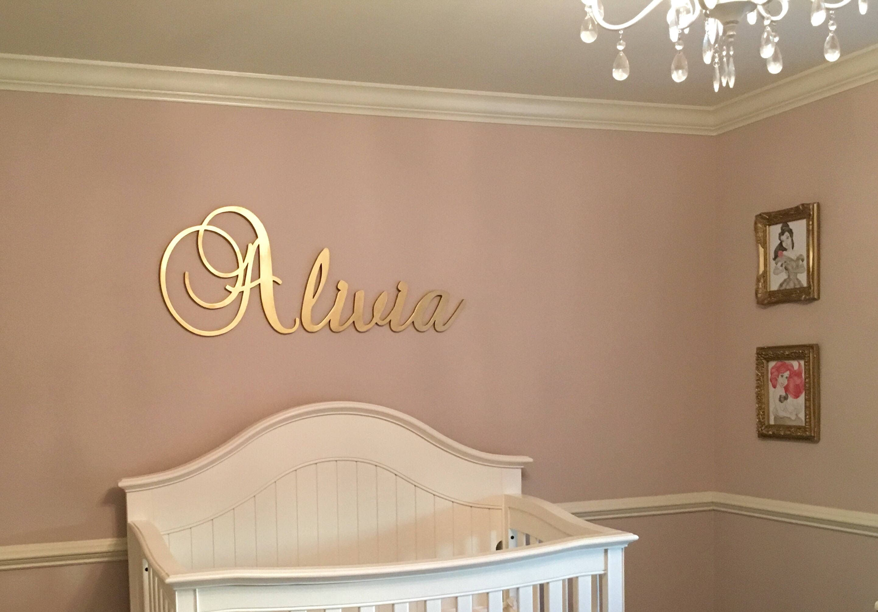 Gold Letters For Wall Gold Nursery Name Sign Baby & Kids Nursery Decor Wall