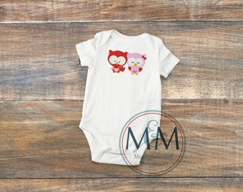 Embroidered Owl Will Always Love You Onesie