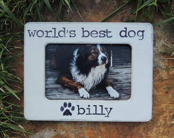 World's best dog Pet Frame Gift for Pet Lover Gift dog picture Frame Custom dog Personalized Pet Frame Home is where my dog is photo frame