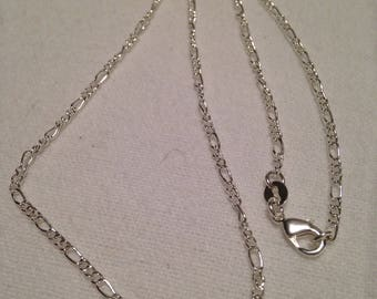 """18"""" Sterling Silver Figaro Chain"""