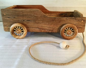 Toy, Wagon, Push and Pull Toy, Toy Wagon, Wooden Wagon, Child's Wagon, Pull Wagon, Artisan Wagon, Handmade Wagon, Reclaimed Wood Wagon