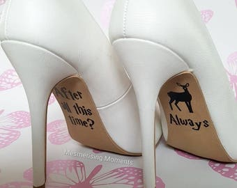 Harry Potter Inspired Wedding Shoe Decal Sticker / After All This Time? Always / Love / Marriage / Lily / Snape