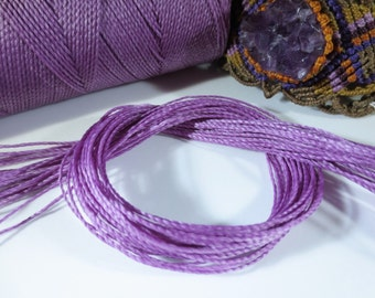 Lila Lavender Waxed Polyester Cord 25ft pack  = 8.33 yards = 7,6 meters Linhasita Thread Brand #69