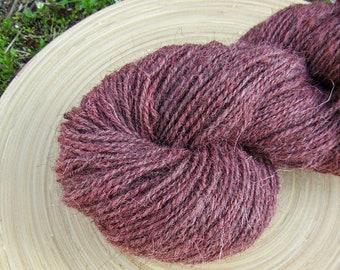 Handspun yarn - jacob wool hand dyed - 2 ply - 150 grams 319 yards