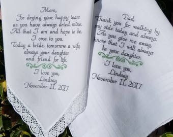 Wedding gift parents, Wedding gift ideas, Wedding gift for dad and mom, Wedding Gift, By Canyon Embroidery Set of 2