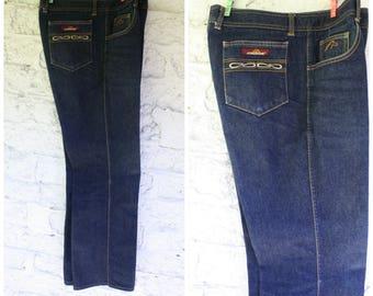 1980s Jordache Jeans / Mens Vintage Jeans / Deadstock Jordache Blue Denim Jeans / Hong Kong Denim Horse Head / Vintage Jordache 34/36 Long