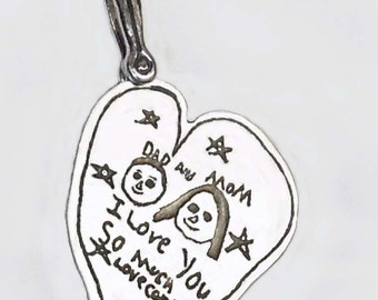 Your Childs Artwork Sterling Necklace by donnaodesigns