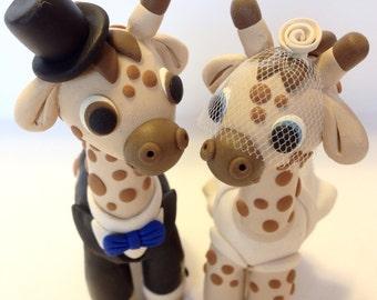 Giraffe Wedding Cake Topper - Choose Your Colors